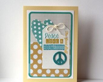 Sisterhood Handmade Card