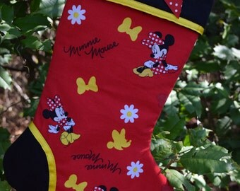 """Minnie Mouse Christmas Stocking!  """"Ready to Ship"""""""