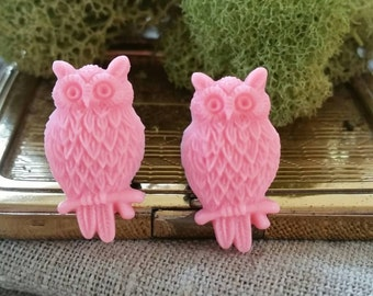 Plugs, Wedding Gauges, Pink, Owls