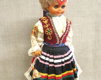 Doll, Souvenir Doll, European, European Costume, Large Doll, Ethnic Dolls, Female Doll, Traditional Costume, Collectible Dolls, Dolls, Toys