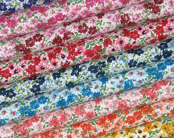 Flower Patch Bundle of Nine Fat Quarters, 100% Cotton Quilt Fabric Bundle, Fat Quarter Bundle, Fabric for Sale
