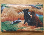 """Labrador Retrievers - 7"""" Zippered Pouch - Lined - Dogs - Black Lab - Golden Lab - Chocolate Lab"""
