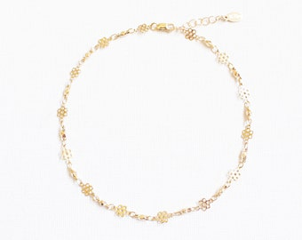 Daisy Gold Chain Anklet