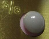 "China  - Diminutive - Victorian High Top Shoe Button- White Less than 3/8""- Circa  1850 - 1930"