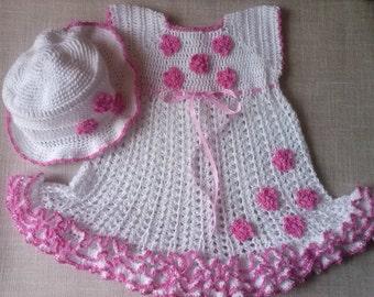 Baby Girls first birthday Outfit, summer dress Easter dress, birthday dress, Baby Shower Gift, Outfit dress,  baptisms  dress, Dress and Hat