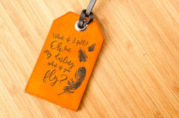 What if You Fly Custom Personalized Leather Luggage Tag
