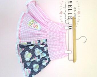 Cupcake Party Girls Twirl Skirt
