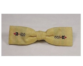 SALE Vintage Ever-Grip 1950s/1960s Gold Mad Men Bow Tie