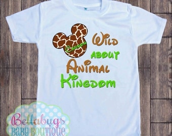 Wild about Animal Kingdom - Giraffe Mickey Disney Bodysuit or Tshirt - Animal Kingdom - Personalized shirt