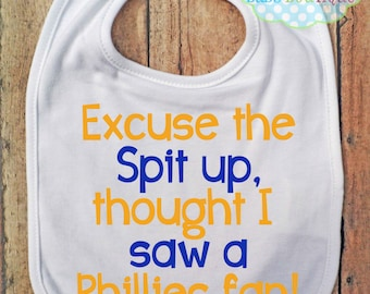 Excuse the spit up Bib - New York Mets - Baseball - Baby Fan Gear