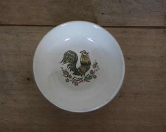 vintage taylor smith and taylor bowls rooster pattern set of two