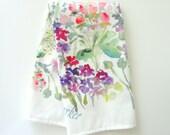 NEW! Floral Market Tea Towel, Watercolor Tea Towel, Watercolor Floral Tea Towel