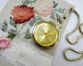 Tick Tock Vintage Affinity Gold Tone Pocket Watch Style Pendant On Vest Belt Chain Steampunk Costume Destash Decoration Supply Lot