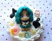 Kawaii Sailor Neptune Comoact Pocket Mirror Ready to Ship