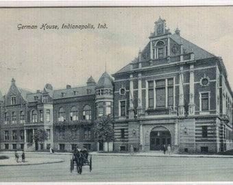 German House Indianapolis Indiana 1909 postcard