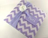 Baby Photo Album -Shabby Personalized Girl Photo Book- Baby, chic picture album- 4x6, 5x7 or 8x10- Lavender purple chevron