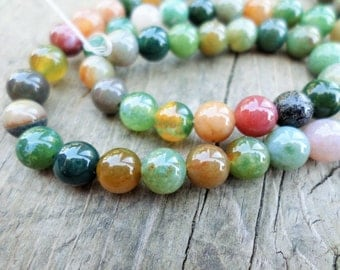 Indian Agate 6mm Rounds Full Strand