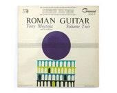 "Charles Murphy record album design, 1962. Tony Mottola ""Roman Guitar, Volume Two"" LP"
