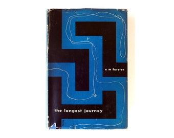"""Alvin Lustig book jacket design, 1943. """"The Longest Journey"""" by E.M. Forster [New Directions, New Classics] NC4"""