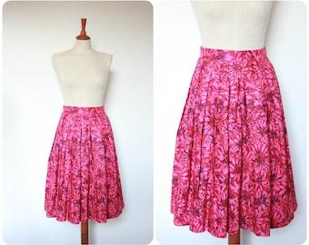 Petite Vintage 1960's Pink Pleated Skirt