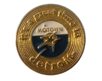 MOTOWN RECORDS vintage enamel pin lapel DETROiT MI album soul music