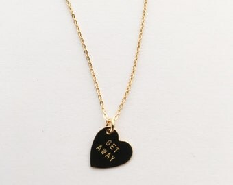 Get Away Heart Charm Necklace