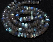 LABRADORITE - AAAA - High Quality Micro Cut Faceted Rondell Beads So Gorgeous Full Flashy Fire - 19 Inches Long size - 6 - 8 mm approx