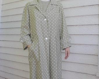 60s Polka Dot Jacket and Dress Mod Retro Green Julie Miller M L