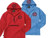Monogrammed pullover, monogrammed windbreaker, sorority jacket, Charles river pullover