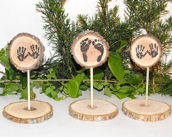 Woodland Baby Shower Decorations ~ Tiny Baby Feet U0026 Hands Table Decor ~ Rustic  Baby Shower