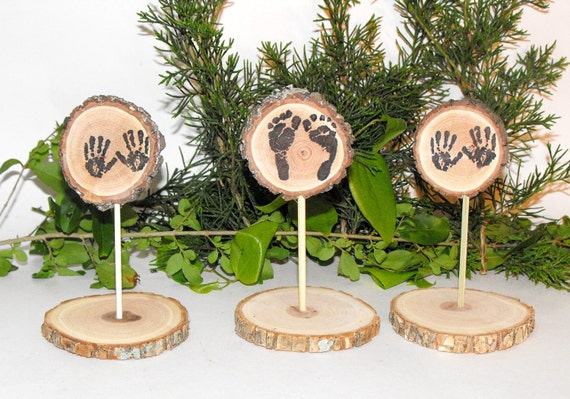 woodland baby shower decorations tiny baby feet hands table decor