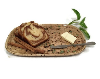 Appetizer Platter - Small Plate in Earth Tone Brown and Green