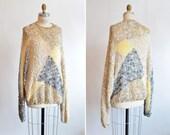 Vintage 1980s oversize VISCOSE knit sweater