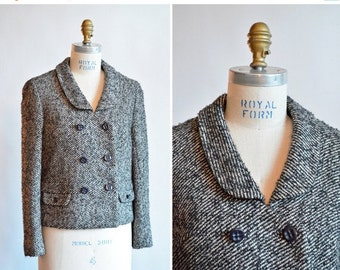 50% OFF SALE / Vintage 1960s TWEED wool jacket