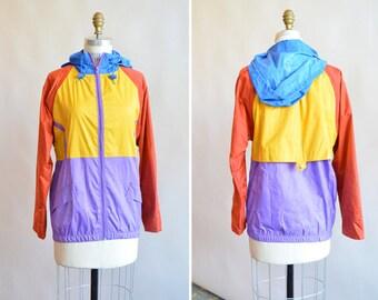 Vintage 1990s COLORBLOCK nylon jacket