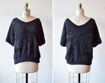 Vintage 1980s MODERNIST textured knit sweater