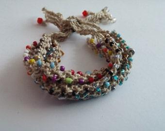 Beaded Crochet Love Knots Bracelet - Group # 22