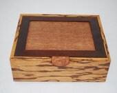 Handcrafted Marblewood & Elm Burl Watch box