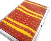 Yellow, red and gold business or credit card case