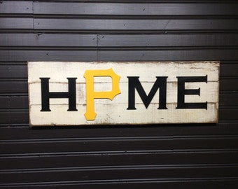 Pittsburgh Pirates HOME plaque, sign