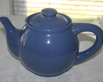 Vintage Marketplace Blue Ceramic Teapot