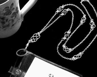 Women's Fashion ID Necklace Lanyard Badge Holder, Pretty ID Lanyard with Handcrafted Celtic Knots, Breakaway Lanyard, Teacher Gift, Lanyard