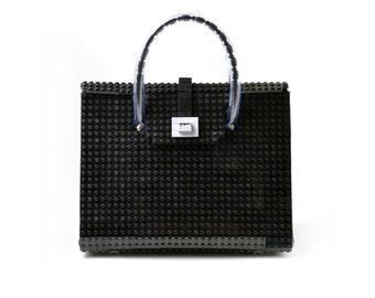 The Brick Bag in black made entirely of LEGO® bricks FREE SHIPPING lego gift handbag trending fashion