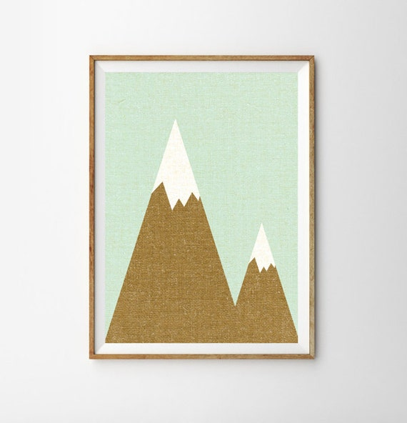 The Mountains are Calling Print, Mountains Art, Tribal Print, Boho, Large Wall Art, Oversized Art, Trending Items, Trending Now