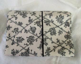 Waverly Garden Room king pillowcase -  cotton, floral, cream, black