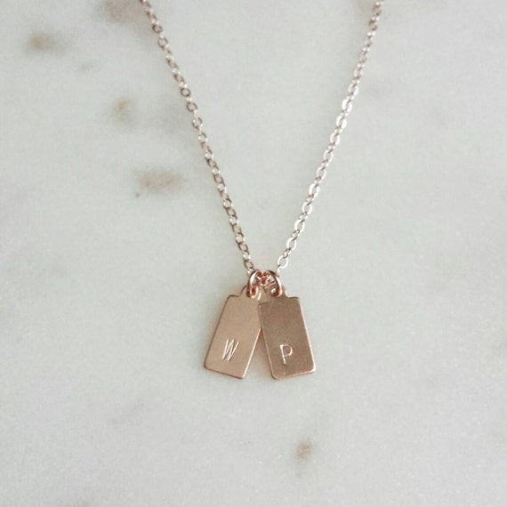 Little Rose Gold Tags Necklace