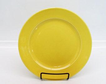"""Harlequin Yellow Homer Laughlin  9"""" Dinner Plate 1930s Dinner Ware"""