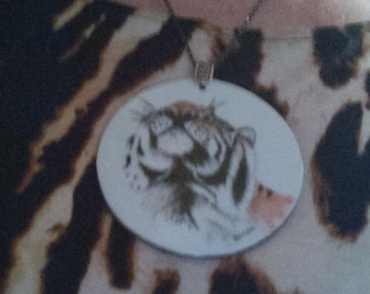 """Tiger Necklace, 3-1/2"""""""