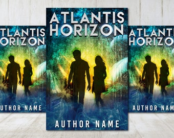 "Premade Digital eBook Book Cover Design ""Atlantis Horizon"" Science Fiction Sci Fi YA Young Adult Fiction"