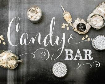 Chalkboard Candy Bar Sign - 24x36 Sign